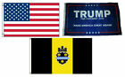 3x5 Trump #1 & USA American & City of Pittsburgh Wholesale Set Flag 3'x5'