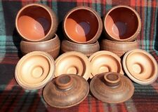 A set of 6pcs. Pots for baking from red clay popular in the Soviet Union