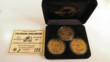 2001 Avalanche Patrick Roy Ray Bourque Stanley Cup Hockey Medals Highland Mint