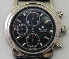Authentic Bulova Accutron Sapphire 63B018 Automatic Chronograph Watch