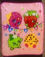 Shopkins Throw Blanket Pink Kids Child
