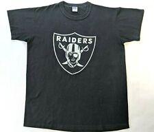 Russell Mens Oakland Raiders NFL TeeLarge Single Stitch Vintage Distressed