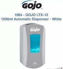 GOJO LTX-12 1200ml Automatic Hand Free Soap Dispenser White / Grey Free P&P New