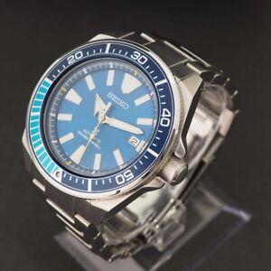 Limited Edition SEIKO Prospex Blue Lagoon Samurai SRPB09 Diver's Automatic Watch