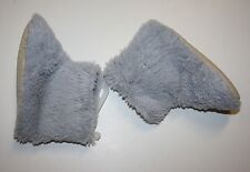 Baby Old Navy Gray Fuzzy UNISEX FAUX FUR Booties WARM Shoes Child Size L /10