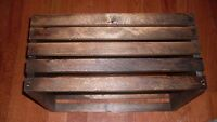 Wood Crates  Set of 4   Dark Walnut Made in the US