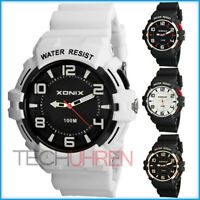 Analoge XONIX Armbanduhr für Herren WR100m nickelfrei mit Licht