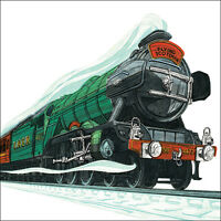 """Blank Card Birthday card """"Flying Scotsman"""" Square Size 6.25"""" x 6.25"""" 9651 EVEH"""