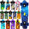 "22"" Skateboard Complete Street Retro Cruiser Print Deck"