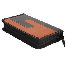 New 80 Disc CD VCD DVD Music DJ Album Storage Bag Holder Case Black & Orange