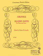 Second Suite for Flute and Piano Emil Kronke Flute Learn to Play MUSIC BOOK