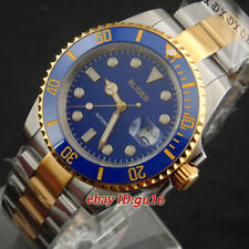BLIGER 40mm Ceramic Bezel Luminous sapphire automatic Date Day mens watch,2074
