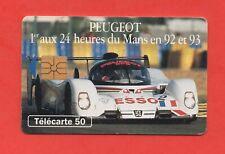 Télécarte - PEUGEOT - 1er aux 24 heures du Mans en 92 et 93   (A6481)
