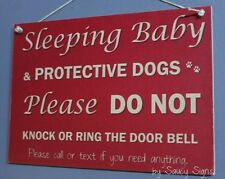 Red Do Not Knock Protective Responsive Dogs Warning Sign No Soliciting