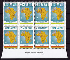 Zimbabwe 2010 PAPU (Postal Union) Imprint Blocks, MNH (sheet margins)