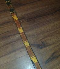 Vintage Fender Guitar Strap Black Gold Embroidered 60s-70's poor condition Rare