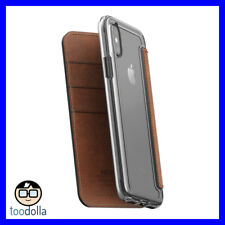 Nomad Folio Clear Leather Brown iPhone X / Xs