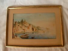 ANTIQUE ITALIAN FRAMED WATERCOLOR PAINTING ON PAPER,LATE 19th CENTURY.