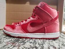 best service e87c1 4d14b Nike SB Dunk High Premium Red Velvet Gym Men s Size 10 313171 661