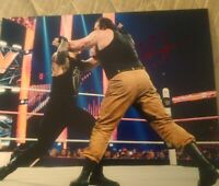 BRAUN STROMAN SIGNED 8X10 PHOTO WWE WWF WYATT WRESTLING B W/COA+PROOF RARE WOW