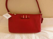 NWT COACH EAST WEST CROSSBODY PURSE WITH BOW -- RED