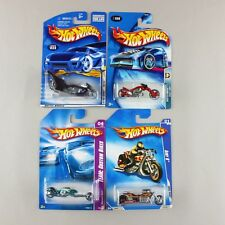 Hot Wheels '01 FRIGHT BIKE, '04 BLAST LANE, '08 HAMMER SLED, '09 AIRY 8 *Purple*