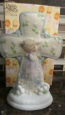 New Precious Moments Standing Porcelain Cross Closer to God Garden Enesco 796328