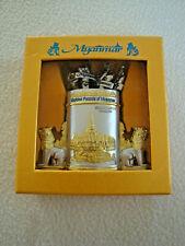 MYANAMAR / BURMA Cocktail forks, buffet forks,food picks in Golden Pagoda Holder