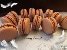 Macarons Macaroons French Almond Cookies Chocolate  Ganache 12 pc Gluten free