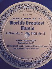 Worlds Greatest Music  Rachmaninoff Concerto No 2 in C Minor LP Record