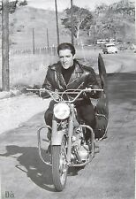 """ELVIS PRESLEY """"YOUNG ELVIS RIDING MOTORCYCLE WITH GUITAR"""" POSTER FROM ASIA"""