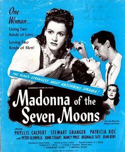 MADONNA OF THE SEVEN MOONS pressbook, Phyllis Calvert, Stewart Granger
