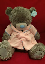 """ME TO YOU BEAR TATTY TEDDY X-LARGE 24"""" PINK DRESSING GOWN BEDTIME PLUSH"""