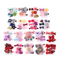 1 Set épingle bébé fille cheveux clip Bow fleur mini barrettes Star Kids enf FR
