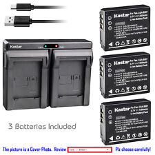 Kastar Battery Dual Charger for Panasonic CGA-S007 & Panasonic LUMIX DMC-TZ4K