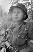 WW2 Photo Child soldiers German boy with helmet and potato masher grenade 423