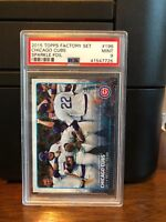 2015 Topps Sparkle Foil Chicago Cubs Baseball Card #196 PSA 9 POP 1 No 10's