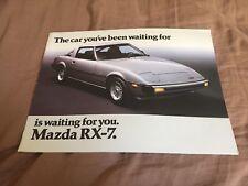 1979 Mazda Rotary Engine RX7 USA Market  Brochure Catalog Prospekt