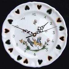 Horloge pendule murale Assiette ajourée LXV en FAIENCE de MOUSTIERS céramique