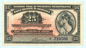 NICARAGUA 25 Centavos 1938 P88a UNC