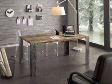 Tavolo WOOD design nature legno vintage industrial metallo massello di ROVERE