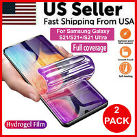 2-Pack HYDROGEL Screen Protector For Samsung Galaxy S21 Ultra S21+ Plus TPU New