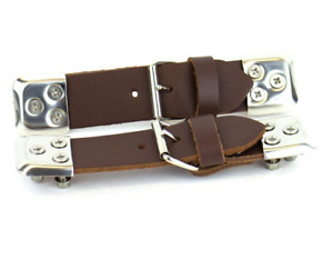 Bonnet Straps Brown Leather