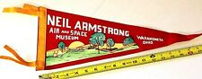 """(1) VINTAGE NEIL ARMSTRONG AIR AND SPACE MUSEUM PENNANT, 17.5"""" LONG {CM36}"""