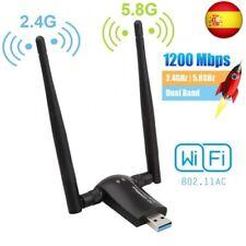 Flybiz Adaptador WiFi USB 3.0 Adaptador Dual Band (5.8GHz 866Mbps / 2.4GHz