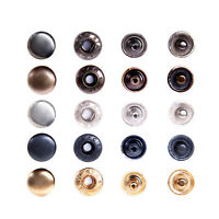 Druckknöpfe S-Feder 10mm, Stahl, Metallknöpfe, Knöpfe für Kleidung, Leder, Stoff