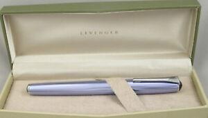 Levenger True Writer Metallic Blue & Chrome Prototype Rollerball Pen - 2012
