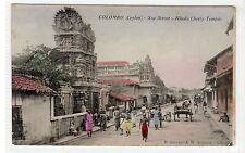 HINDU CHETTY TEMPLE, SEA STREET, COLOMBO: Ceylon postcard (C27288)