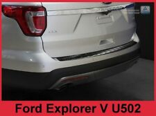 2011-2015 Ford Explorer -  Graphite Stainless Steel Rear Bumper Protector Guard