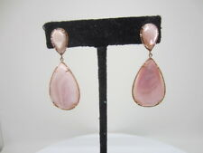 14k Rose Gold Pink mother of pearl Dangle earrings Milor Italy